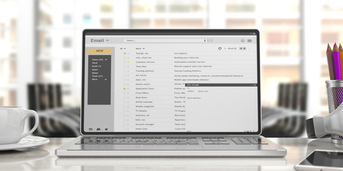 Image of an email screen