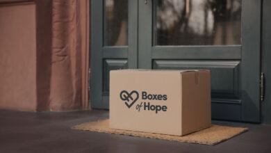Image of box on doorstep