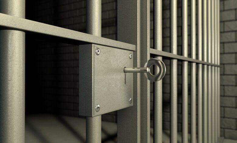 Photo of locked jail door