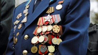 Picture of man wearing military medals