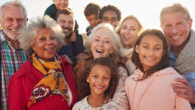 Image of a multi-cultural multi-generational group