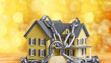 Image of a house in chains