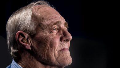 Image of isolated senior man
