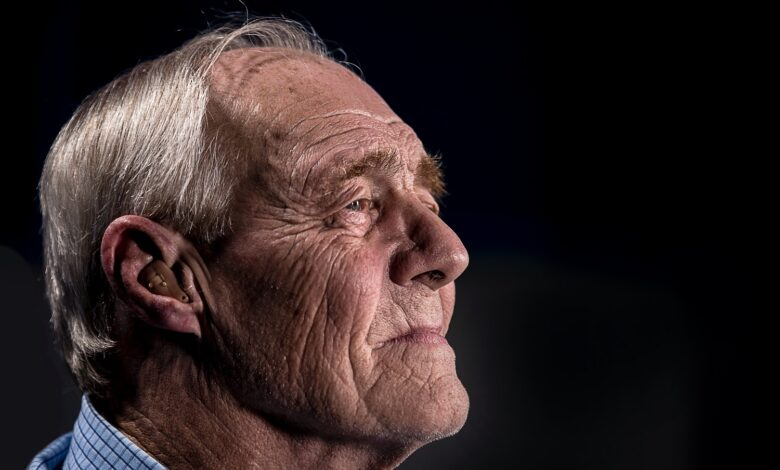 Image of isolated senior man