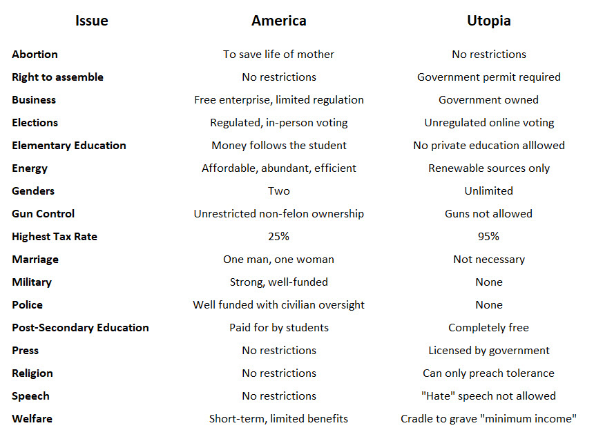 Charts showing issues dividing America