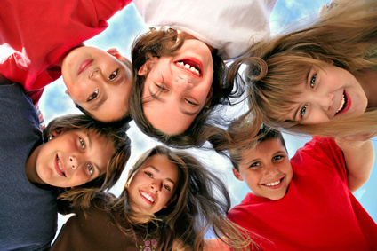 Image of a group of teens acting silly