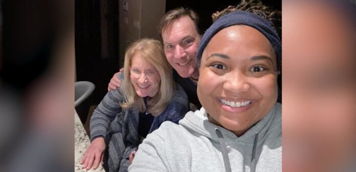 Picture of Chelsea Timmons, front, with Nina Richardson and Doug Condon.