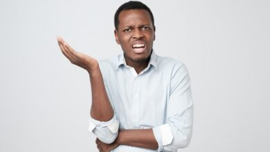 Picture of man with a confused expression