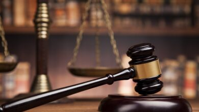 Image of a gavel and scales of justice