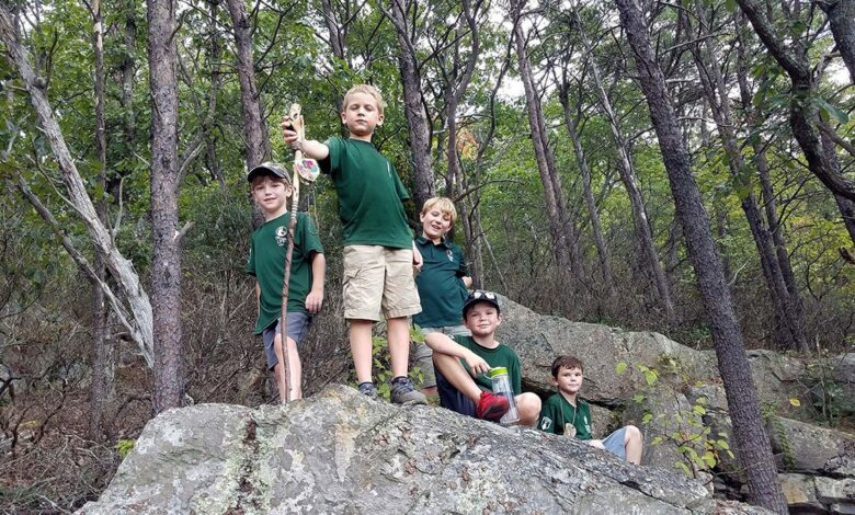 Image of Trail Life boys outdoors