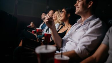 Image of people enjoying a movie in a theater.