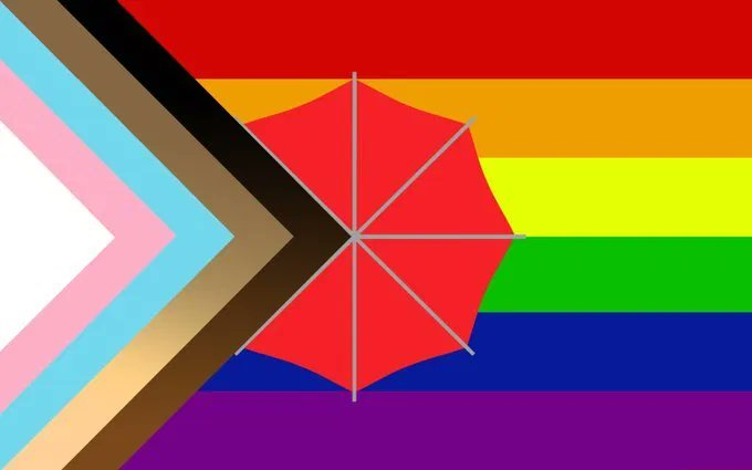 Image of the new inclusive Pride flag